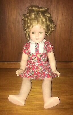 "18"" Vintage 1930'S Cop Ideal N&T Shirley Temple Composition Doll"