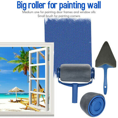 Paint Roller Set with Sticks Decorate Runner Tool Painting Brush Set O0C5