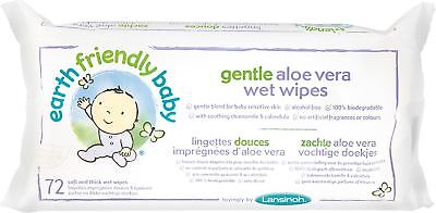Lansinoh EARTH FRIENDLY GENTLE ALOE VERA WET WIPES Baby/Toddler Changing BN