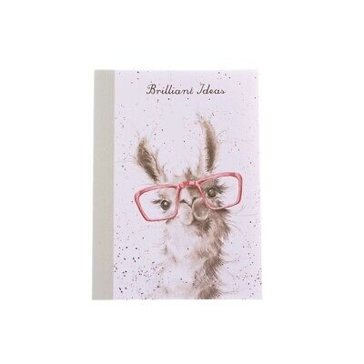 A6 Llama Brilliant Ideas Notebook – Wrendale Designs Country Set by Hannah Dale