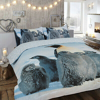 Brushed Cotton Flannelette Duvet Cover Bedding Set Double King Size Pillow Cases