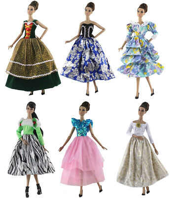 New 6 PCS Princess Dress/Wedding Clothes/Gown For 11.5in.Doll C02
