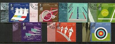 Sg 1714-20 Isle Of Man Olympic Games London Very Fine Used Set