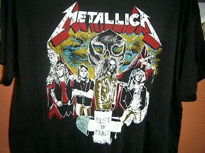 Metallica Lives On Cliff Burton Rest in Peace T-Shirt XL Dedicated Tribute Rare