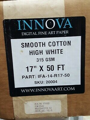 Innova Digital Fine Art Paper Smooth Cotton High White 17 In By 50 Ft