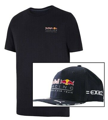 T-Shirt & Cap Verstappen Red Bull Racing Formula One Team Logo Tee F1 NEW!