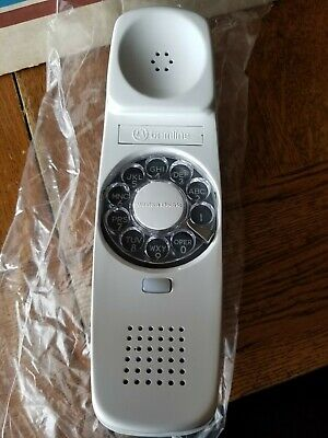 Western Electric NOS Telephone Rotary Dial Trimline Handset 220C-58 White