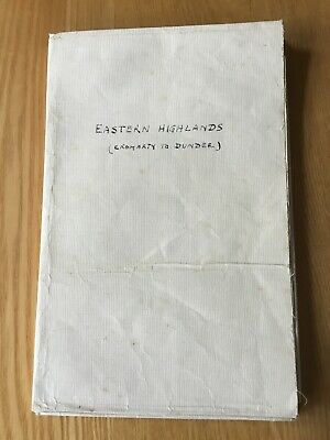 1942 Ordnance Survey Quarter Inch Military Edition Map 5 The Eastern Highlands