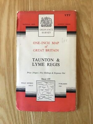 1960 Ordnance Survey Seventh Series One Inch Map 177 Taunton And Lyme Regis