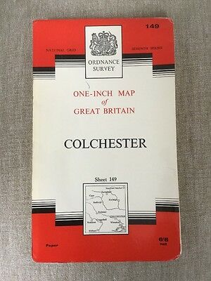 1964 Ordnance Survey Seventh Series One Inch Map 149 Colchester (incl Sudbury )