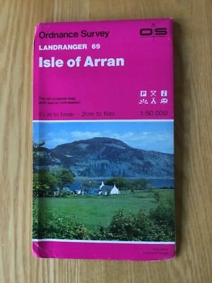 1987 Ordnance Survey Landranger Map 69 Isle Of Arran Inc Lagg , Brodick , Corrie