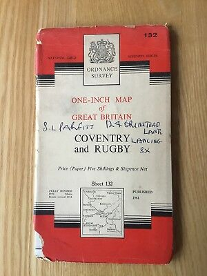 1961 Ordnance Survey One Inch Seventh Series Map 132 Coventry And Rugby