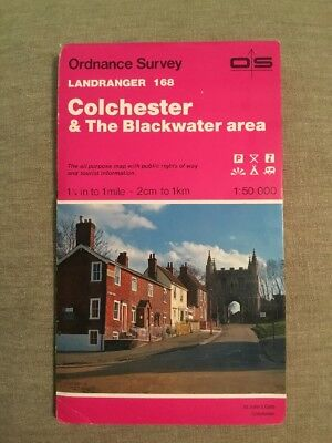 1992 Ordnance Survey Landranger Map 168 Colchester And The Blackwater Area