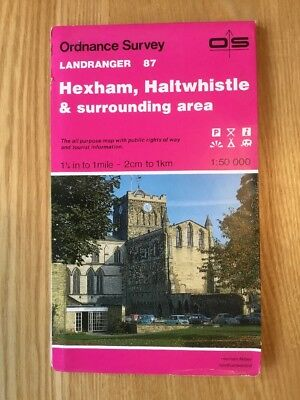 1992 Ordnance Survey Landranger Map 87 Hexham , Haltwhistle And Surrounding