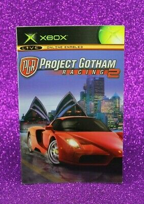 Instruction Booklet/Manual Only For Pgr Project Gotham Racing 2 Xbox (No Game)🏊