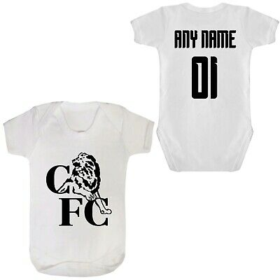 ARSENAL FC FOOTBALL BABYGROW PERSONALISED ANY NAME /& NUMBER