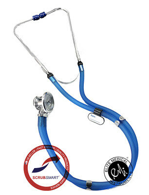 US Seller FAST Ship Sprague Rappaport Stethoscope - Color Translucent Royal Blue
