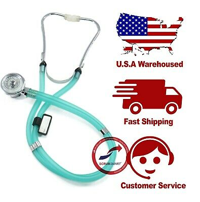 Medical SPRAGUE RAPPAPORT Dual Head Stethoscope - Color Translucent Sea Frost