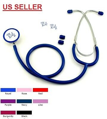 New EMI Dual Head Stethoscope Color : Navy -  US seller Fast Shipping