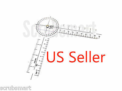 "US Seller - Brand New  6"" Round Protractor Goniometer Pocket 6 in. Free Shipping"
