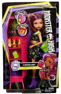 Monster High Ghoul-La-La Locker Daughter of the Werewolf Doll - Clawdeen Wolf