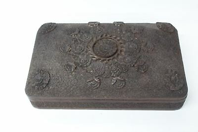 Antique Hand Carved Anglo-Indian Wooden Domed Box w 3 Compartments Circa 1900