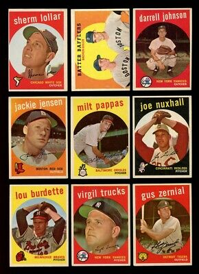 Lot Of (240) Different 1959 Topps Baseball Cards (Vg) *gmcards*