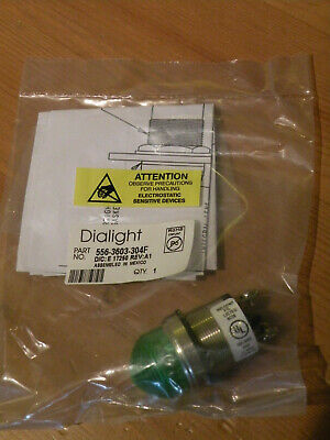Dialight 556-3603-304F LED Panel Mount Indicator Dome Green 12V 1""