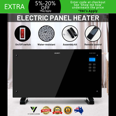 PORTABLE ELECTRIC SPACE WALL PANEL HEATER Indoor Outdoor Heat Radiant Infrared