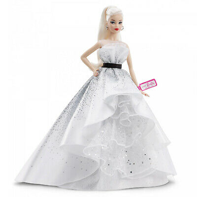 Barbie 60th Anniversary Doll Blonde Hair And Diamond Inspired Accents Stunning