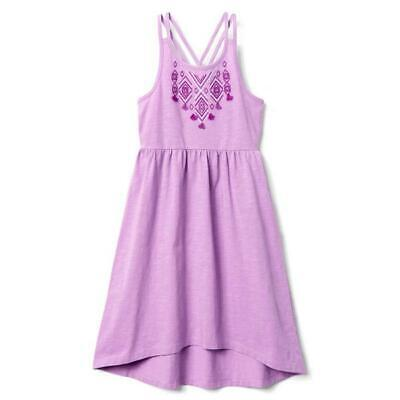NWT Gymboree Jump Into Summer Girls Purple Sleeveless Embroidered Dress Size 14