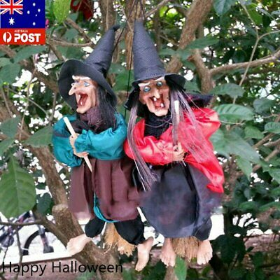 Halloween Scary Decoration Hanging Animated Talking Witch Haunted House Props P