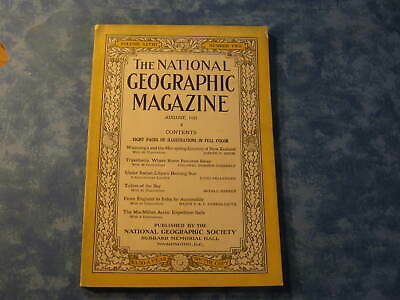 ANTIQUE NATIONAL GEOGRAPHIC August 1925 NEW ZEALAND Libya ENGLAND TO INDIA TRIP