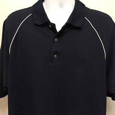 Footjoy Mens ProDry Pique Golf Polo Shirt Sz XL Short Sleeve Dark Navy Blue FJ