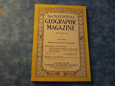 ANTIQUE NATIONAL GEOGRAPHIC November 1923 HORSES OF THE WORLD Story of the Horse