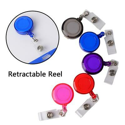 5x AU Retractable Badge Holder Reel Swipe Card Security ID Pull Key Tag Clips