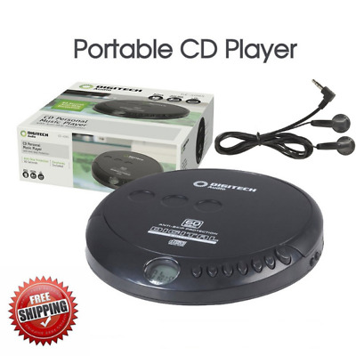 CD Player with Earphones Music Player Walkman Discman Portable Disc