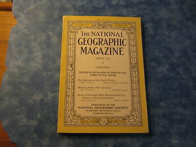 ANTIQUE NATIONAL GEOGRAPHIC August 1923 ANCIENT AMERICA RUINS OF CUICUILCO Birds