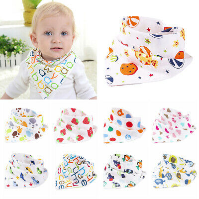 Cute Baby Bibs Infant Feeding Towel Bandana Triangle Bibs Dribble Saliva Scarf