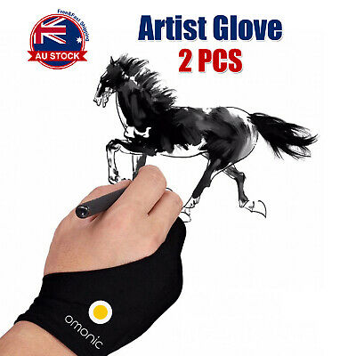 2pc Graphic Sketch Drawing Writing Two Finger Tablet Artist Professional Glove A