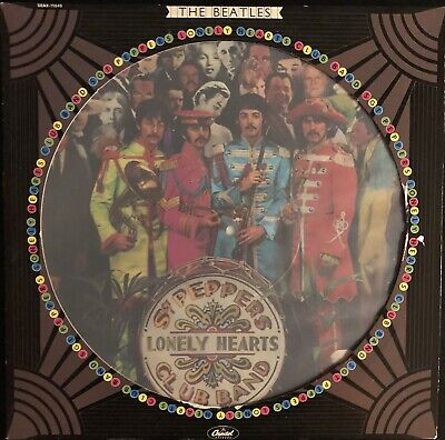 The Beatles Sgt Peppers Lonely Hearts Club Band Picture Vinyl LP Record Album