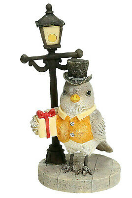 Heart of Christmas TOP HAT GREY BIRD by LAMP POST New NIB Buy More-Save 6001377