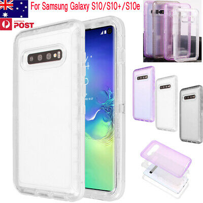 Clear Heavy Duty Shockproof Full Case Cover For Samsung Galaxy S10/S10 Plus/S10e
