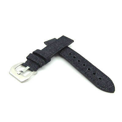 Japanese Dry Denim Watch Strap with Leather Lining (20mm, 22mm, 24mm)