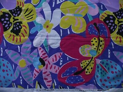 Retro Vintage KEN DONE Fabric: Large Flowers by the Sea (Sheridan), 2.6 x 1.15 m