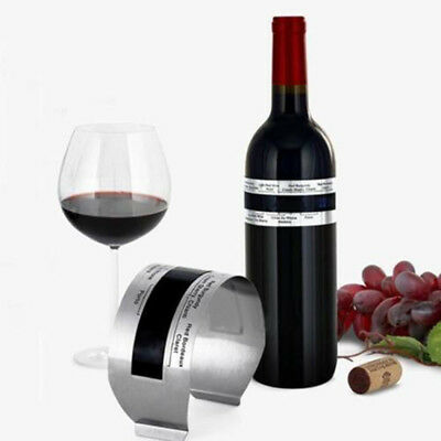 Stainless Wine Bottle Thermometer LCD Display Serving Bracelet Party Checker Fad