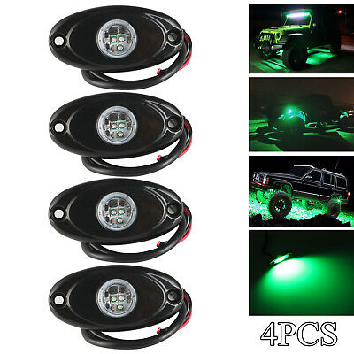 2PCS Blue LED Rock Light For JEEP Wrangler Off-Road Under Wheel Rig Light  2inch
