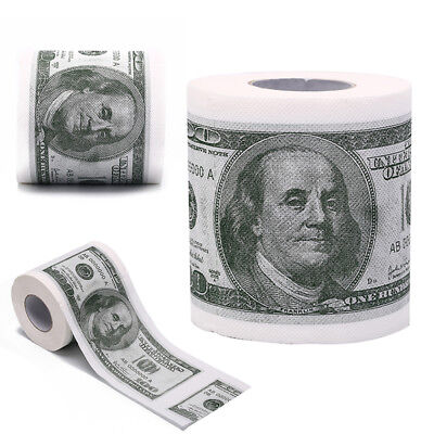 Novelty Euro Bank Note Joke Funny Money Currency Toilet Tissue Paper Roll SC