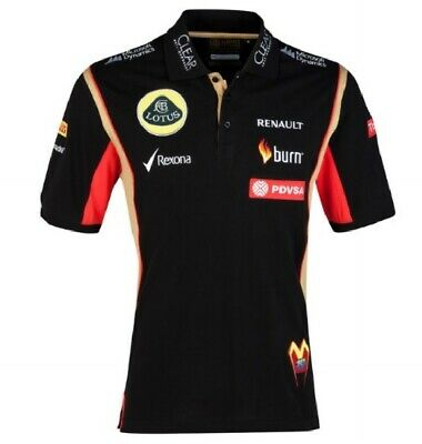 POLO Shirt Adult Formula One 1 Lotus F1 Team NEW! PDVSA Maldonado 2014/5