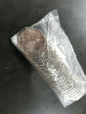 One Sealed Uncirculated Bag Of Paddington London Tower 50p Coins